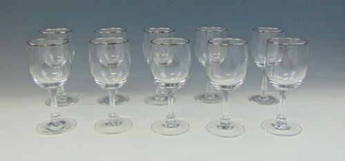 Lot of 10 Fostoria TROUSSEAU Wine Glasses EXCELLENT