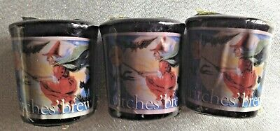 Vintage 3 Yankee Candle Witches Brew Votive Candles-Witch of Broom Label