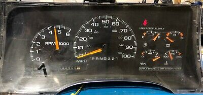 1997 CHEVROLET SUBURBAN USED DASHBOARD INSTRUMENT CLUSTER FOR SALE