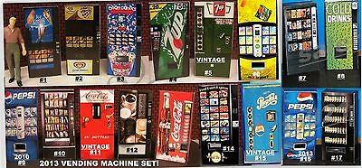 ONE (1) LIGHTED Vending Machine 1:24 (G) Scale miniature NEW!