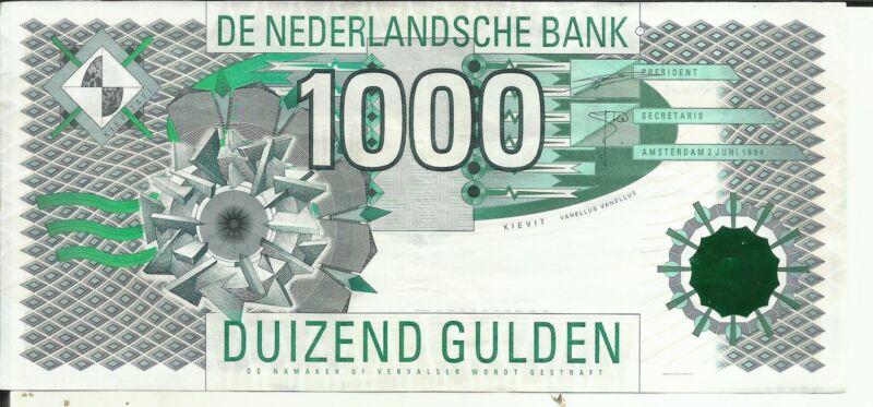 NETHERLANDS 1000 GULDEN 1994  P 102. XF CONDITION. 4RW 26 SET
