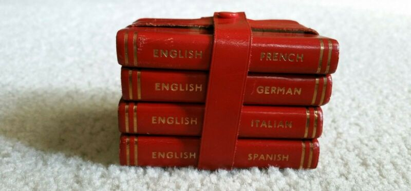 "Dictionaries in the ""Midget"" Series - English Translation to 4 Languages"