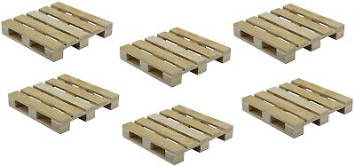 6-Pack Mini Wood Pallet Coasters for Beverages, Hot and Cold Drinks, Mini Blocks