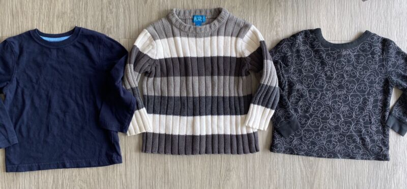 Lot of 3 Toddler Boys Size 3T Long Sleeve Shirts Childrens Place Sweater