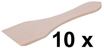 Posten 10 x Racletteschieber Raclettespachtel Raclette 13 cm Buchenholz