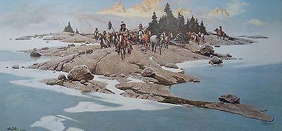 Frank McCarthy, BELOW THE BREAKING DAWN, Artist's Proof, Wyoming Plains Indians