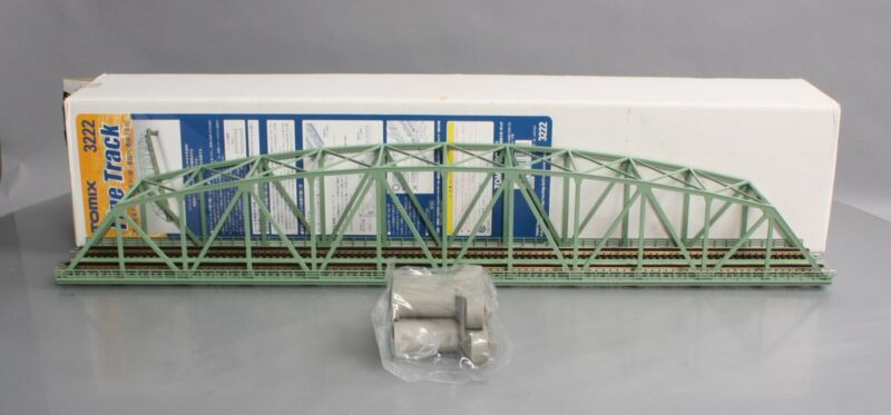 "Tomix 3222 N Scale Large Double Track Truss Iron Bridge 22"" LN/Box"