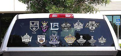 Stanley Cup Champion Los Angeles Kings Logo 80S Retro Crown Car Vinyl Decal