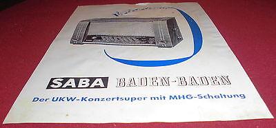 dachbodenfund prospekt blatt saba baden baden MHG radio werbung reklame 1951 alt