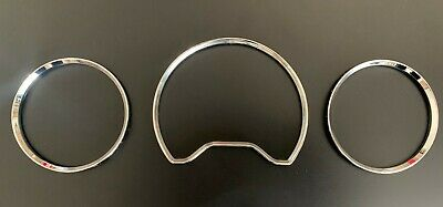 CHROME SPEEDOMETER DIAL GAUGE RINGS BEZEL FOR MERCEDES W210 E W208 CLK W202 C