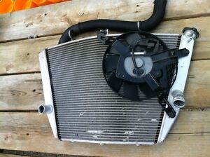 GSXR1000 07-08 COMPLETE RADIATOR AND FAN WITH HOSE