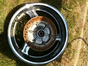 REDUCED HONDA BLACK BIRD CHROME WHEELS FRONT AND REAR