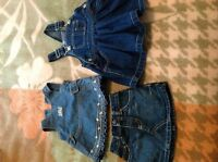 Reduced! Girls jean dresses and skirt