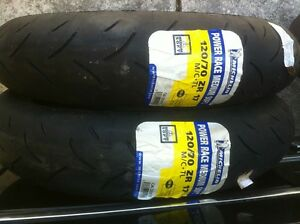 NEW MICHELINE PILOT POWER RACE TIRES MEDIUM SOFT Windsor Region Ontario image 2