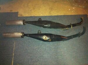 RZ500 YAMAHA STOCK EXPANSION CHAMBERS IN GOOD CONDITION Windsor Region Ontario image 2