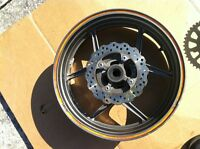 KAWASAKI ZX636R 05 06 REAR WHEEL COMPLETE