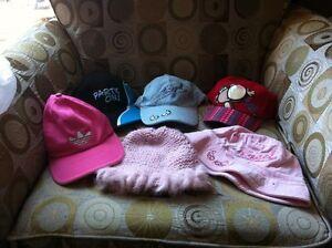 6 Girls Hats lot#1 Adidas, bobby jack etc