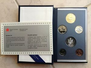 1992 Canadian 6 coin specimen set