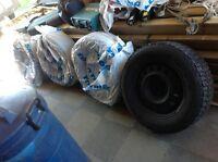 Steel rims on Firestone tires