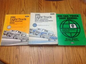 1981 Ford F-100 Shop Manuals