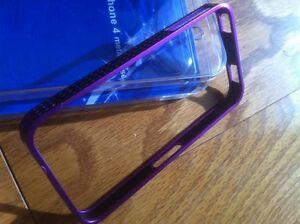 iPhone 4 Purple Metal Case Edmonton Edmonton Area image 1