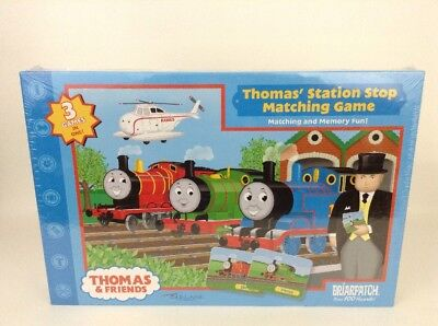 Thomas and Friends Station Stop Matching Game 3 - 1 Memory Matching New Sealed