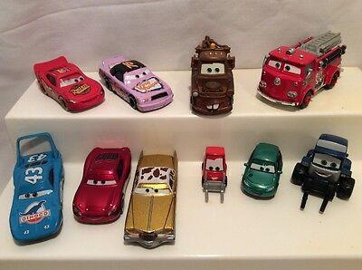 Disney Pixar Cars Diecast Lot! Lightning McQueen, The King, Mater.... M35