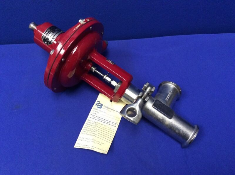 """BADGER Research Control Valve 1005ASY3LY00SHLN3L TRIM H 316L SS 1-1/2"""" TRI-CLAMP"""