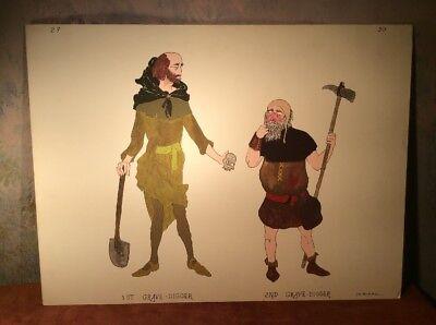 Theater Costume Design By James Bakkom ~ Gravediggers, From Hamlet ~ Guthrie? - Hamlet Costumes