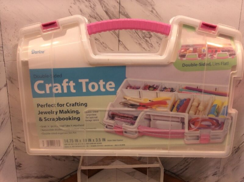Darice Double-Sided Craft Tote Organizer With Handle
