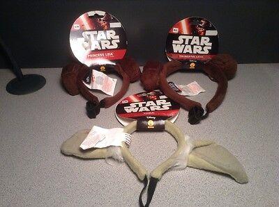 NEW Halloween STAR WARS Princess Leia Ears Headband Costume Pet Dog S/M M/L - Princess Leia Costume Dog