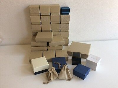 Lot Of 35 Jewelry Boxes Jtv Rings Braceletnecklace Pouches