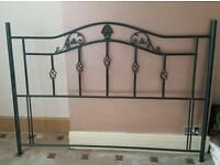 King size bed metal headboard like new FREE