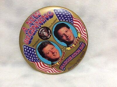 BILL CLINTON pin pinback button campaign presidential election 1993 INAUGURATION