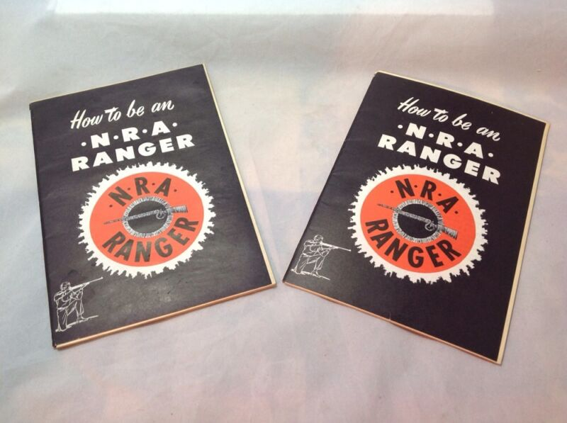 "Two ""How to be an NRA Ranger"", NRA Ranger, 10 ranger targets, 1960s, EUC"