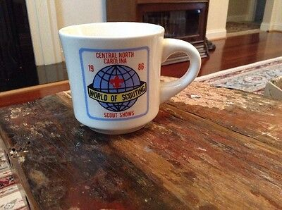 BSA Boy Scouts 1986 Central North Carolina World Of Scouting Scout Shows Mug