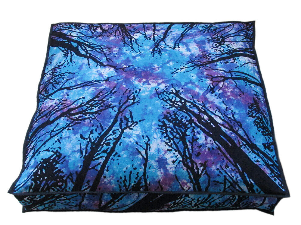 Indian Big Square Floor Cushion Cover Dog Bed Pillow Case 35