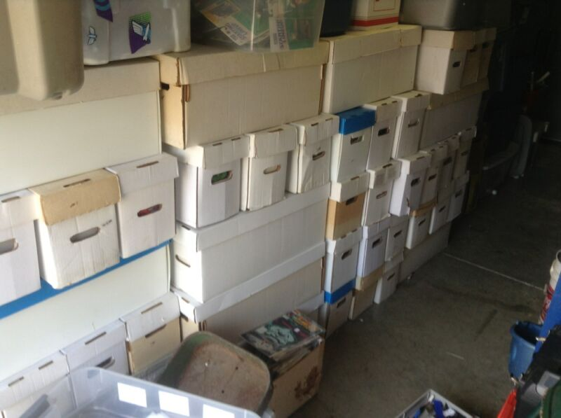 Huge Lot Of Comics storage unit find ,free shipping