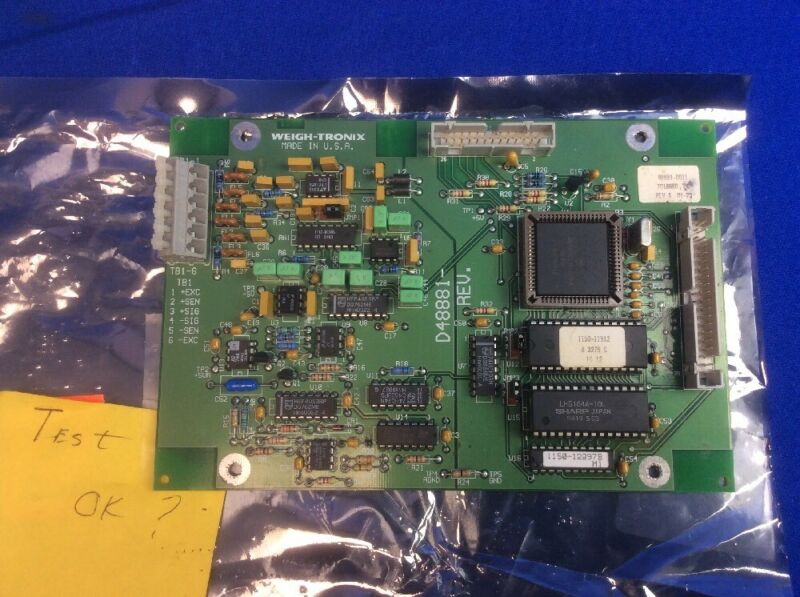 WEIGH-TRONIX 48881-0011 PCB ASSEMBLY MOTHERBOARD FOR 3275 SCALE (USED)