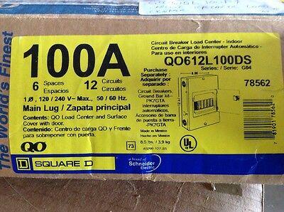 Square D Circuit Breaker Load Center Qo612l100ds