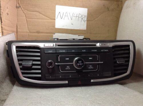 2013 2014 2015 Honda Accord Radio CD Player 39100-T2A-A321 OEM #A57