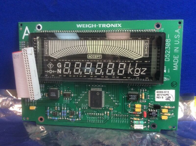WEIGH-TRONIX 52308-0018 DISPLAY BOARD ASSY. FOR 3275 SCALE