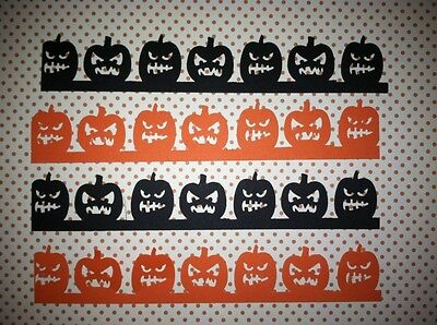 Orange Lanterns (10 BLACK ORANGE HALLOWEEN PUMPKIN JACK O LANTERNS BORDERS DIE CUTS PUNCHES)