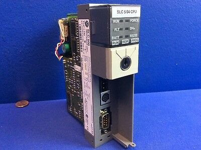 Allen Bradley Slc500 1747-l542 B Slc 504 Processor Unit No Cover