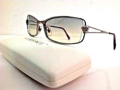Versace occhiale da sole metallo luminoso lente sfumata chiara listino (Lentes Versace)