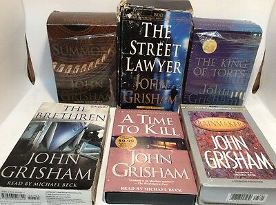 Audio Cassette, Lot of 6, John Grisham