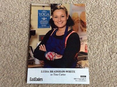 LUISA BRADSHAW-WHITE AS TINA CARTER BBC EASTENDERS HAND SIGNED CARD  - MINT