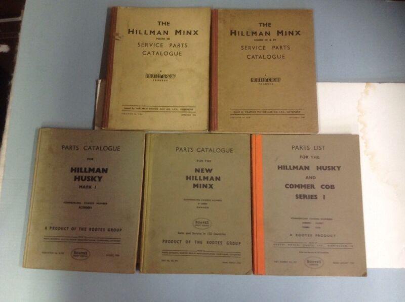 Hillman Minx , Husky & Commercial Cob Rootes Service Parts Library