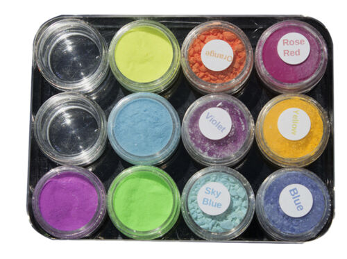 Photochromic  Powder nail art Kit  6 colors Photo 4 colors glow in dark SLIME