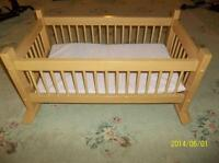 Hand Crafted Cradle for American Girl dolls